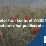 Nyheter från kontoret 3/2021 har publicerats