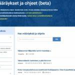 Käsikirjasivusto poistuu – tilalle Määräykset ja ohjeet -sivusto