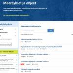 Vanha käsikirjasivusto poistunut – tilalla Määräykset ja ohjeet -sivusto