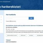 Kaiku-hankerekisteri uudistettiin osaksi Valtiolla.fi -sivustoa
