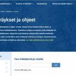 Määräykset ja ohjeet -sivusto korvasi käytöstä poistuneen käsikirjasivuston