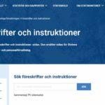 Webbplatsen Föreskrifter och instruktioner ersatte handbokssidan, som togs ur bruk