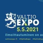 Tervetuloa virtuaaliseen Valtio Expoon 5.5.2021 – ilmoittautuminen on auki!