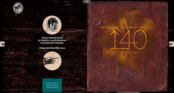 Valtiokonttori 140 vuotta juhla-albumin kansikuva