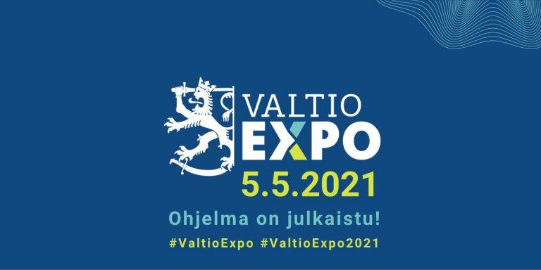Valtio Expo 2021 järjestetään verkossa 5.5.2021. Ohjelma on julkaistu.