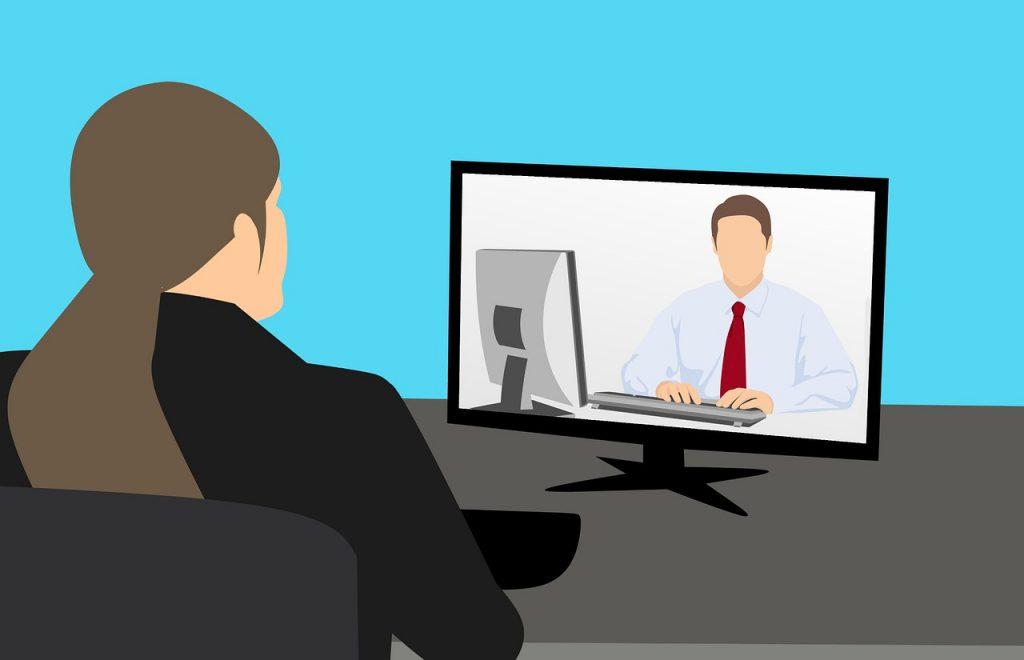 Kuva videoneuvottelusta