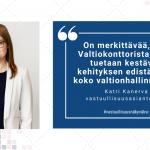 Katri Kanerva kehittää valtionhallinnon vastuullisuustyötä innolla