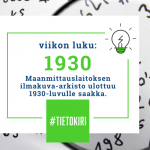 Maanmittauslaitos avasi historialliset ilmakuvat kaikkien suomalaisten käyttöön
